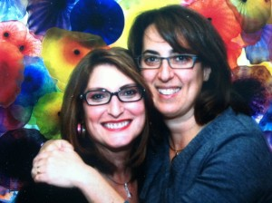Viki and I celebrate our friendship at her son's Bar Mitzvah in November 2012.